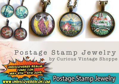 Postage Stamp Jewelry